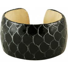 Genuine fish leather bracelet FISHBRAS36 Black