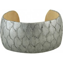 Genuine fish leather bracelet FISHBRAS36 Grey
