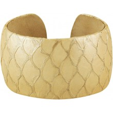 Genuine fish leather bracelet FISHBRAS36 Light Gold
