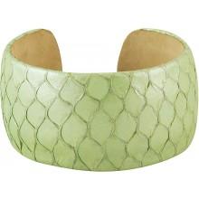 Genuine fish leather bracelet FISHBRAS36 Light Green