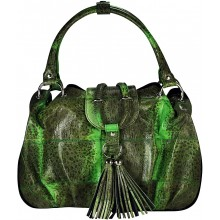 Genuine frog / toad leather bag FROGBAG01 Green