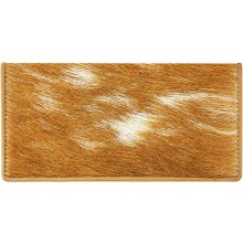 Genuine goat leather with hair on wallet GHW011 Camel