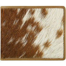 Genuine goat leather with hair on wallet GHW04P Camel