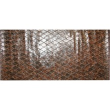 Genuine chicken leather panel HSKPAN02 Antique Brown