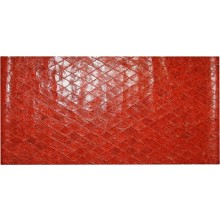 Genuine chicken leather panel HSKPAN02 Antique Red