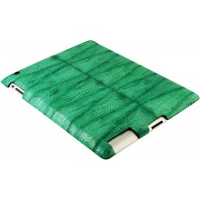 Genuine chicken / hen leather iPad 2 case IPAD2-HEN10 Green