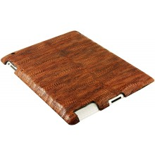 Genuine chicken leather iPad 2 case IPAD2-HEN10 Reddish Brown
