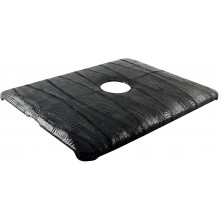 Genuine chicken / hen leather iPad case IPAD-HEN01 Black
