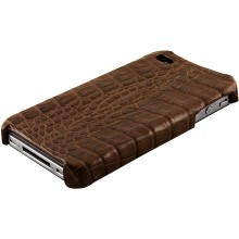 Genuine alligator leather iPhone 4 / 4S case IPHONE4-AL26BL Brown