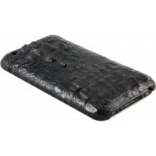 Genuine alligator leather iPhone case IPHONE-AL25HB Black