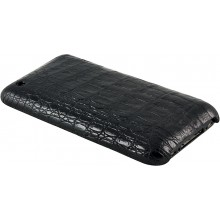 Genuine alligator leather iPhone case IPHONE-AL26BL Black