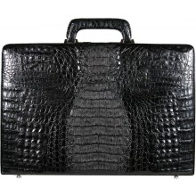 Genuine alligator leather attache case JBCP-S Black