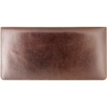 Genuine cow leather wallet JS1628 Brown