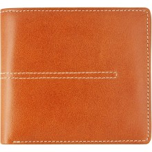 Genuine cow leather wallet JS1783 Tan / Black