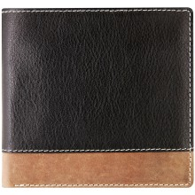 Genuine cow leather wallet JS1802 Black / Brown