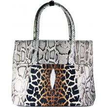Genuine python and stingray leather bag JSNB055PT-ST Natural / P030