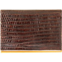 Genuine lizard leather card holder LIZCARD001 Brown