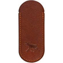 Genuine moose leather knife case MOOSEKN001 Brown