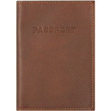Genuine moose leather passport holder MOOSEPAS408 Brown