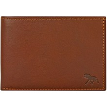 Genuine moose leather wallet MOOSEW117 Brown