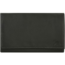 Genuine moose leather wallet MOOSEW340 Black