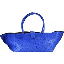 Genuine ostrich leather bag OSBAG003 Blue