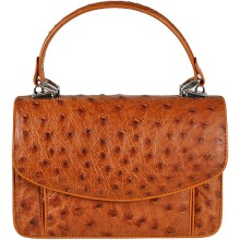 Genuine ostrich leather bag OSBAG068 Peanut