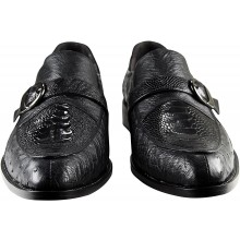 Genuine ostrich leather shoes OSSHOES04 Black