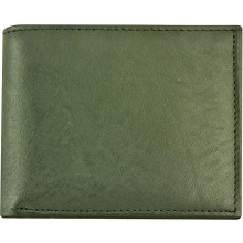 Genuine cow leather wallet P14 Black