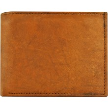 Genuine cow leather wallet P14 Brown