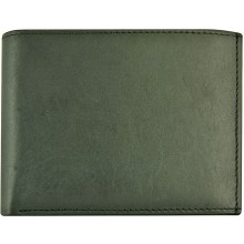Genuine cow leather wallet P40 Black