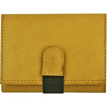 Genuine cow leather wallet P7 Beige
