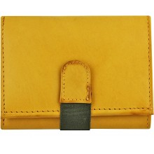 Genuine cow leather wallet P7 Tan