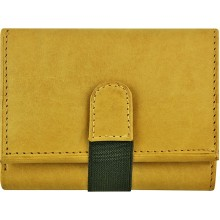 Genuine cow leather wallet P9 Beige