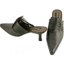 Genuine alligator leather shoes R-005 Black