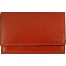 Genuine cow leather wallet R6640RR Burgundy