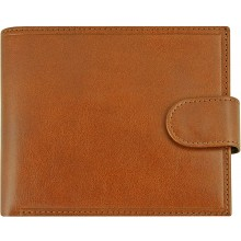 Genuine cow leather wallet R6754A-RM Brown