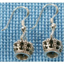 Sterling silver crown earrings SEARRING001