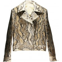 Genuine python snake leather jacket SNJACKET02PT Natural