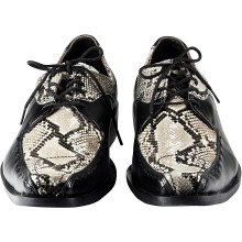 Genuine python and cow leather shoes SNSHOES02PT Black / Natural