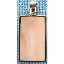 Sterling silver pendant with pink shell inlay SPENDANT002-3