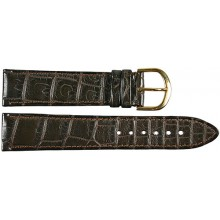 Genuine crocodile leather watch band SPMC-S01 Brown