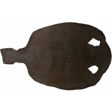 Genuine stingray skin STSKIN4-R Brown D021. Round shape, not sanded.