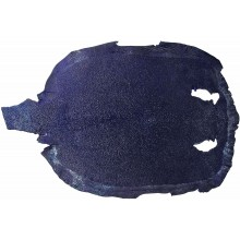 Genuine stingray skin STSKIN4-R Dark Blue D025. Round shape, not sanded.