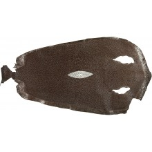 Genuine stingray skin STSKIN-R Brown D021. Round shape, not sanded