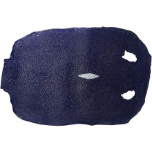 Genuine stingray skin STSKIN-R Dark Blue D025. Round shape, not sanded.