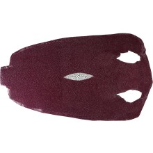 Genuine stingray skin STSKIN-R Violet L017. Round shape, not sanded.