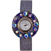 Fashion watch & stingray leather watch band STWAB1813-3 Violet