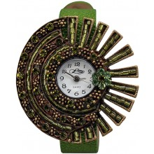 Fashion watch with stingray leather watch band STWAB1886-3 Green