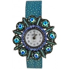 Fashion watch & stingray leather watch band STWAB1887-3 Sky Blue